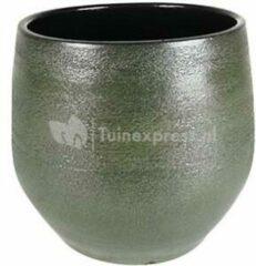 Donkergroene Ter Steege Pot Zembla groen bloempot binnen 25 cm