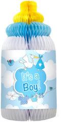 Merkloos / Sans marque Geboorte Honeycomb Jongen Babyfles 33cm
