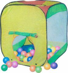 Rode Playtime Play tent - Speeltent met GRATIS 36 soft ballen - ballenbak tent - 80 x 80 x 95 cm