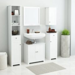 VidaXL Set Mobili per Bagno 5 pz Bianco