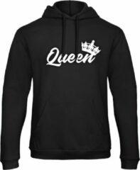 Zwarte B&C Collection King & Queen Hoodie Royal (Queen - Maat XXL)