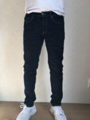 Blauwe Alexander Maskovick Maskovick Heren Jeans Milano stretch SlimFit - Kleur: BlueBlack - Maat: 32/34