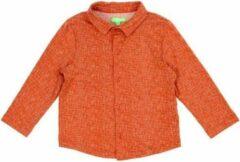 Oranje Lily Balou hemd Lucas Texture Red - 140