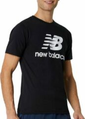 Witte New Balance Heren T-shirt Maat M
