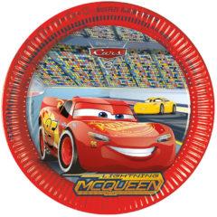 Rode Procos 8 kartonnen Cars 3™ borden - Feestdecoratievoorwerp