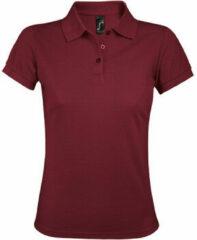 Paarse Polo Shirt Korte Mouw Sols PRIME ELEGANT WOMEN