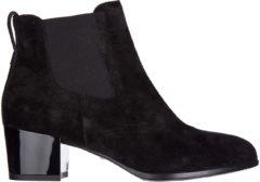 Nero Hogan Stivaletti stivali donna con tacco camoscio h272 tronchetto liscio elastico