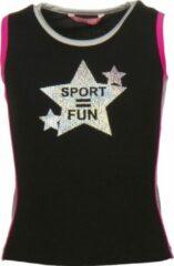Papillon Tanktop Sport = Fun Meisjes Zwart Mt 116