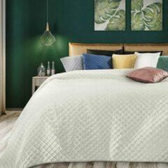 Creme witte Luxe bed deken Brulo Polyester sprei 170x210 cm Gewicht-180+70+100 GSM creme