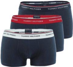 Tommy Hilfiger low rise trunk (3-pack) - blauw met 3 kleuren tailleband - Maat: XXL