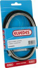 Elvedes Remkabel Set Universeel 1700/2350 Mm Zwart/zilver