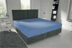 Lichtblauwe Dubbel Jersy Dubbel Jersey -Stretch Hoeslaken -Strijkvrij -Eenpersoons - 80/90/100x200 -Licht Blauw