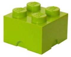 Groene Lego Storage Brick 4 - 25 cm x 25 cm x 18 cm - Sand Green