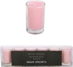 Home Society - Votive Mini Candle - Roze - set van 6
