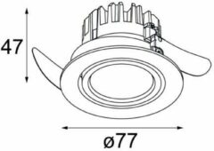 Modular Lighting K 77 Adjustable LED GE MO 14050371 Ezelgrijs structuur