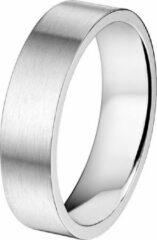 Zilveren Vigor Ring A508 - 6 mm - Zonder Cz - Staal