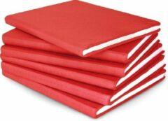 Dresz rekbare boekenkaft A4 rood. 6 stuks