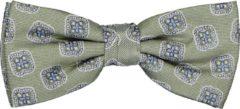 Michaelis strik - groene dessin strik zijde