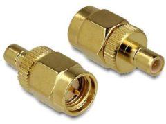 Gouden DeLOCK 88830 SMA SMB Goud kabeladapter/verloopstukje