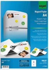 Magneetpapier Sigel A4 wit 5 vel voor inkJet