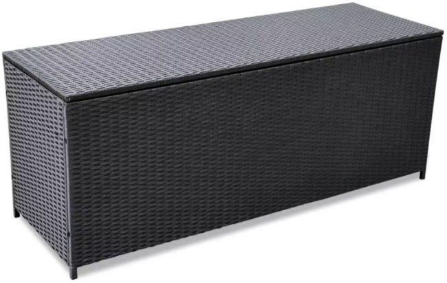 Afbeelding van VidaXL Tuinbox 150x50x60 cm poly rattan zwart