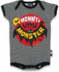 Rode Six Bunnies Romper SS |MOMMY'S LITTLE MONSTER| Maat 3-6 mnd