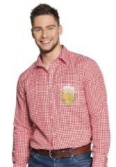 Boland Party Products Boland Shirt Oktoberfestshirt rood Rood - L