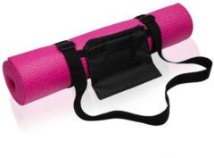 Merkloos / Sans marque Yogamat - Roze - 190 x 61 cm - Thuis sporten - Roze pilates/yoga mat - Sport/fitness benodigheden