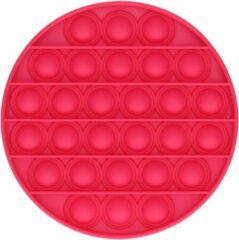 AWR Premium Kwaliteit Pop-It Fidget   Anti Stress Speelgoed   Tik-Tok Fidget   Cirkel Rood