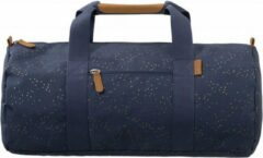Blauwe Fresk Weekend- en sporttas Indigo dots - Large