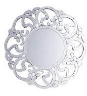 Beliani Mornaix Spiegel Zilver Glas 70x2x70