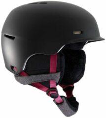 Zwarte Anon Dames Snowboard helm Raven Black S