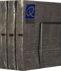 Merkloos / Sans marque Servetten - Papier - Set van zes pakjes - 6 x 20 stuks - Gelijnd Taupe - 33cm x 33cm
