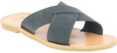 Zwarte Slippers Attica Sandals ORION NUBUCK BLACK