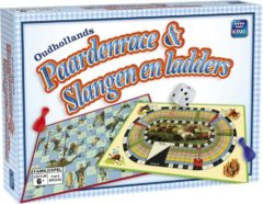 King International Paardenrace & Slangen & Ladders - 2 Bordspellen in 1