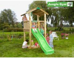 Groene Jungle Gym Speeltoren met Glijbaan (lichtgroen) Casa