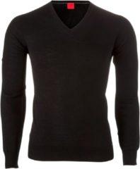 OLYMP Level 5 - heren trui wol - zwart (Slim Fit) - Maat XXL