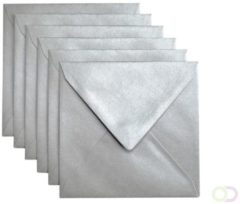 Papicolor Envelop Vierkant Formaat 140 X 140 Mm Kleur Platinum Pearl 1 Sided