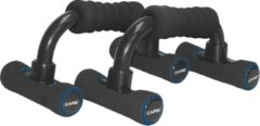 Care Fitness - Opdruksteunen - Push-up Bar 2 Stuks - Schuim - Zwart