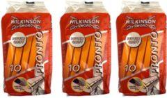 Wilkinson Sword Wilkinson Pronto wegwerpscheermesjes -Voordeelset 3 pakjes a 10 stuks!!