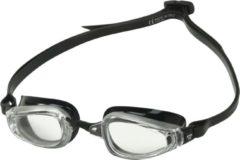 Aqua Sphere Phelps K180 - Zwembril - Volwassenen - Clear Lens - Zilver/Zwart