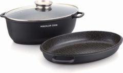 """Antraciet-grijze Mischler Cook Kookpot en ovenshotel 2 in 1 """"DAVR1003 Zwart"""""""