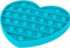 Donkerblauwe Merkloos / Sans marque Pop it - Blauw - Hart - Fidget Toy - (gezien op TikTok)