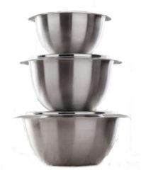 Thermoserveerschaal met deksel G.S.W. zilverkleur