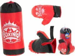 Rode Merkloos / Sans marque Boksset met Handschoenen en Bokszak