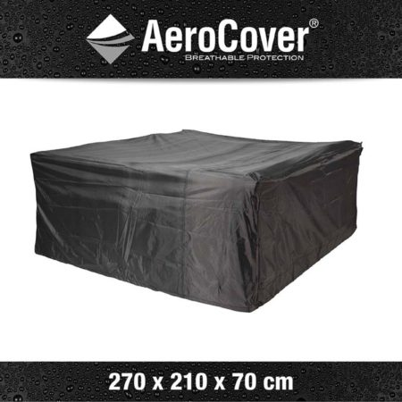 Afbeelding van Antraciet-grijze AeroCover Loungesethoes 270 x 210 x 70