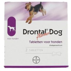 Bayer Drontal Dog Tasty Ontwormingsmiddel - Hond - 2 tabletten