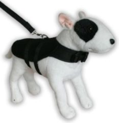 Zwarte Doxtasy hondentuig Harness coat mesh black, M – borstomvang 36-42 cm, ruglengte 22 cm