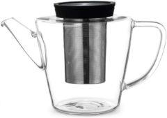 Zwarte Viva Scandinavia - Infusion Theepot - Glas - 1 liter - Zwart