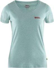 Blauwe Fjällräven Fjallraven Logo Outdoorshirt Dames - Clay Blue-Melange - Maat XS